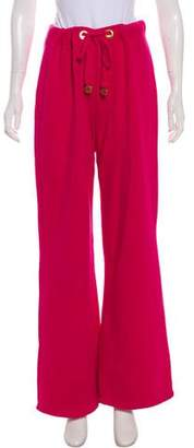 Tory Burch Mid-Rise Wide-Leg Sweatpants