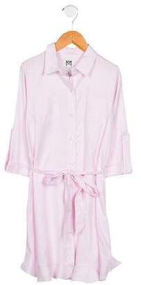 Milly Minis Girls' Ruffled Button-Up Shirtdress
