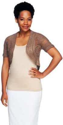 Liz Claiborne New York Hand Crochet Open Front Shrug
