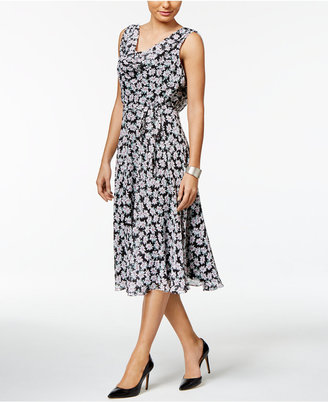 MSK Cowl-Neck Floral-Print Midi Dress $69 thestylecure.com
