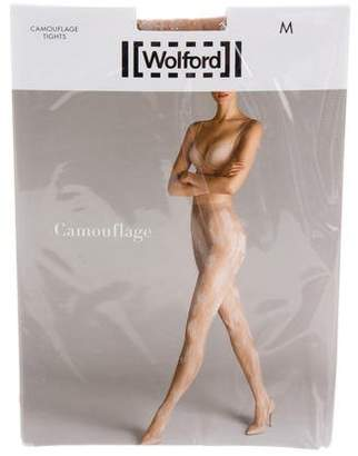 Wolford Camouflage Devoré Tights w/ Tags