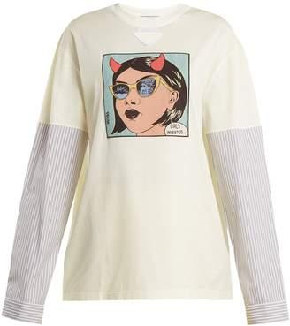 Prada Comic-print cotton top