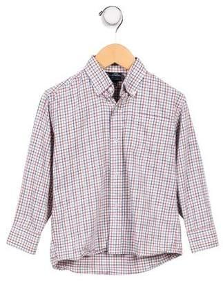 Oscar de la Renta Boys' Gingham Button- Up Shirt