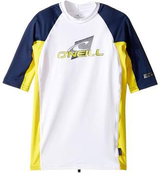 O'Neill Kids Skins Short Sleeve Crew Kid's Swimwear