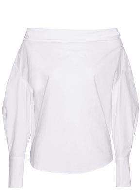 Emilio Pucci Off-The-Shoulder Cotton-Blend Poplin Top