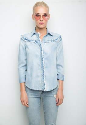 Generation Love Tori Pearls Button Down Shirt