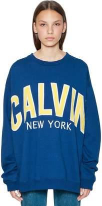 Calvin Klein Jeans Oversized Logo Patches Cotton Sweatshirt