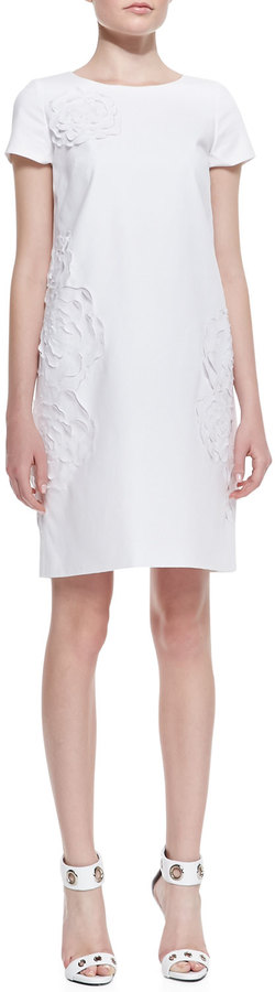 Lafayette 148 New York Jaedyn Stretch-Cotton Dress with Cutouts