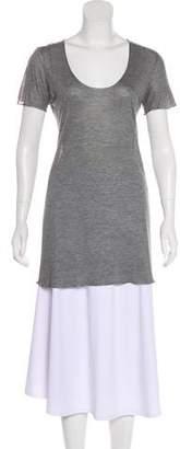 Dolce & Gabbana Scoop Neck Short Sleeve Top