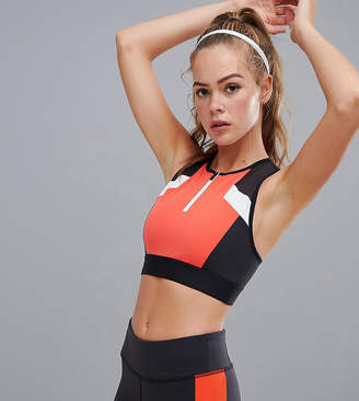 Reebok Training Exclusive To ASOS Color Block Crop Top