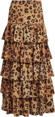 Mara Hoffman Mariza Tiered Printed Maxi Skirt