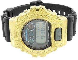 ダイヤモンドG - Shock Watchイエローベゼルデジタルカスタムメンズブラック樹脂バンドdw6900