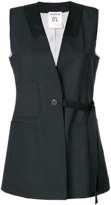 Semi-Couture Semicouture longline waistcoat