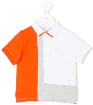 Boss Kids colour block polo shirt