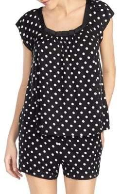 Kate Spade Dot Short Pajama Set
