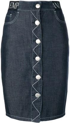Emporio Armani five pocket design denim skirt