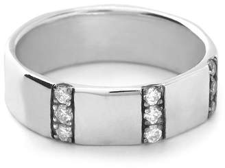 Ippolita Senso Sterling Silver Channel Set Diamond Band Ring - 0.30 ctw - Size 7