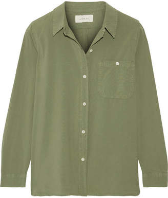 The Great The Campus Cotton-canvas Shirt - Green