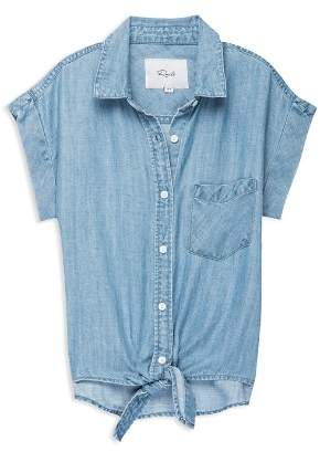 Rails Girls' Amy Tie-Front Shirt - Big Kid
