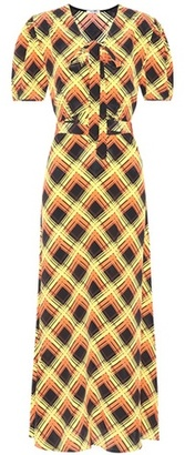 Printed silk maxi dress