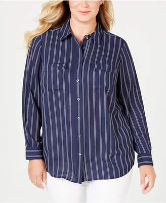 Charter Club Plus Size Striped Shirt