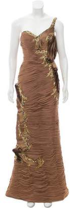 Terani Couture One Shoulder Evening Gown w/ Tags