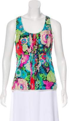 Peter Som Sleeveless Floral Print Top
