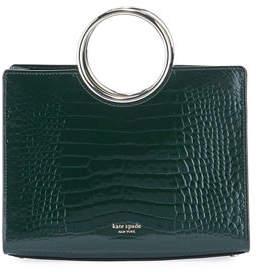 Kate Spade Sam Medium Croc-Embossed Bracelet Satchel Bag