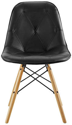 Asstd National Brand Tufted Faux Leather Chairs