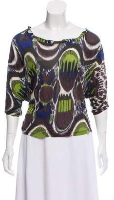 Dries Van Noten Printed Knit Top