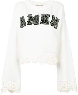 Amen cropped logo jumper
