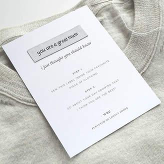 Keepsake Wue 'Great Mum' Sew In Label