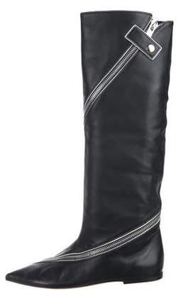 Celine Leather Knee-High Booties