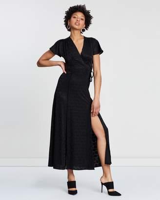 French Connection Kandi Polka Jacquard Maxi Dress