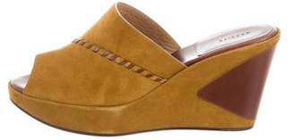 Carritz Suede Wedge Sandals w/ Tags