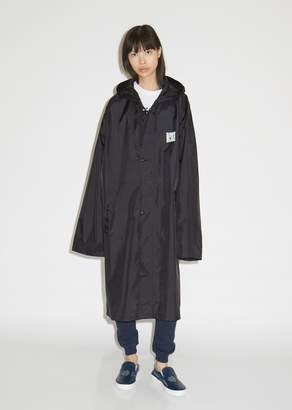 Vetements QR Code Long Raincoat