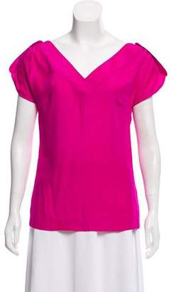 Loeffler Randall Silk V-Neck Top