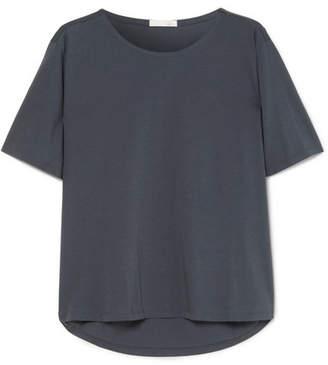 Skin - Presley Organic Pima Cotton-jersey Pajama Top - Midnight blue