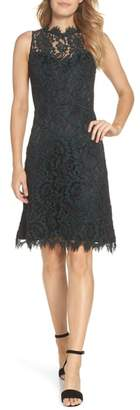 Eliza J High Neck Lace Sheath Dress