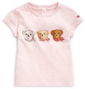 Ralph Lauren Childrenswear Baby Girl's Graphic Cotton Tee