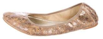 Stuart Weitzman Metallic Leather Flats
