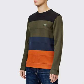 26e7e1e8dbc77 at TheHut.com · Lacoste Men s Cut and Sew Colour Block Sweatshirt