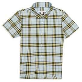 Burberry Little Boy's& Boy's Clarkey Plaid-Print Cotton Button-Down Shirt