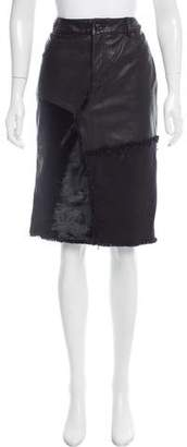 Tom Ford Patchwork Knee-Length Skirt w/ Tags