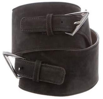 CNC Costume National Suede Waist Belt Grey Suede Waist Belt