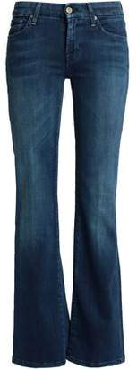7 For All Mankind Faded Low-Rise Bootcut Jeans