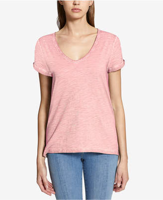 Sanctuary Twist-Sleeve Soft T-Shirt
