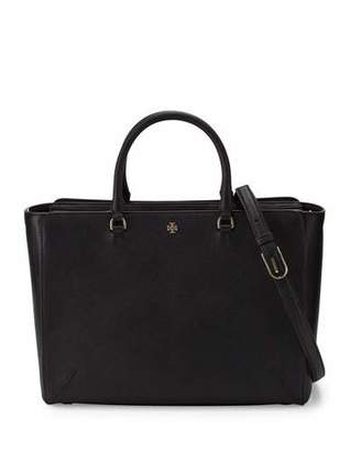 Tory Burch Robinson Large Zip-Top Tote Bag, Black $495 thestylecure.com