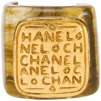 One Kings Lane Vintage Chanel Lucite & Gold Ring - 1999