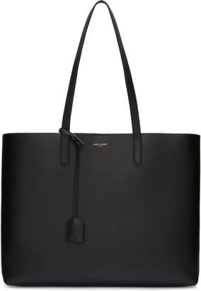 Saint Laurent Black Large Shopping Tote Bag $995 thestylecure.com